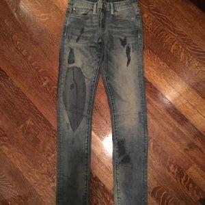DENIM & SUPPLY patched vintage denim jeans size 28